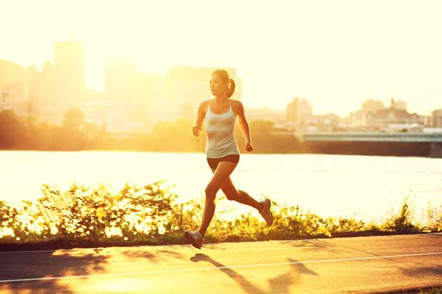 running-outside-sun